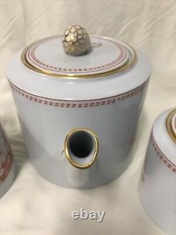 (14 Piece) Copeland Spode'Trade Winds Red' Fine Stone TEA SET for 5 w128