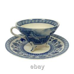 16 Liberty Blue Transferware Porcelain Tea Set with Tray Antique Reproduction