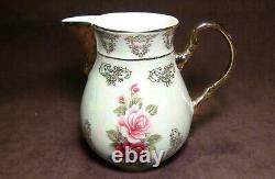 17 pc THUN KARLOVARSK Rose Pattern Gold Accent Trim Fine Porcelain China Tea Set