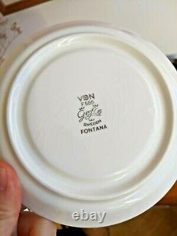 1970s PAIR Gefle Upsala Ekeby FONTANA Tea Set MCM Berit Ternell Sweden 6 pcs