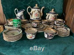 19th Cen French Paris Porcelain Tea Set
