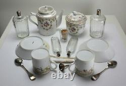 19th Century French Travelers Porcelain Tea Service Boxed