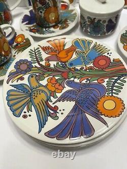 20 Piece VILLEROY & BOCHACAPULCOTEA Set PORCELAIN LUXEMBOURG BIRDS FLOWERS