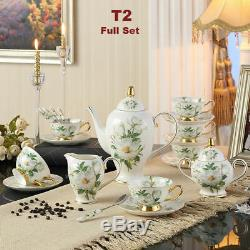 21 / 13 / 3 Piece European High Quality Tea Set Cup Teapot Porcelain Coffee Mug
