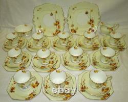 39 x Piece Royal Paragon L'AUTOMNE English Bone China Tea Set