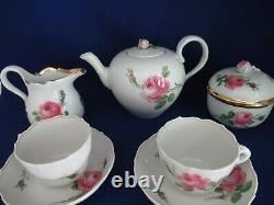 7-piece Meissen Porcelain Tea Set