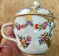 A MEISSEN Porcelain Tea/Coffee Set Egoist 19 century