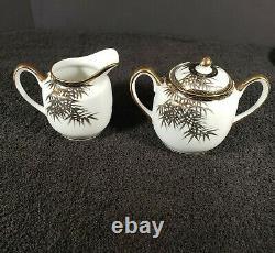 Antique 17 Piece Satsuma Japanese Tea Set Eggshell Porcelain