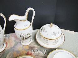 Antique 1800's French Porcelain De Paris Part Service Tea set
