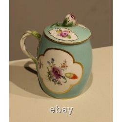 Antique 18th Original Rare Germany Pot dessert Meissen Porcelain Marked 14cm