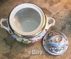 Antique 19th C Old Paris Porcelain 3-Pc Teaset 1830-50