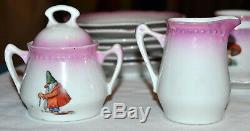 Antique Childs Germany 21 Piece Porcelain Tea Set, Angels, Fairy, Nursery Rhymes