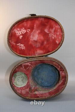 Antique Chinese Porcelain Famille Verte Tea Set In Case