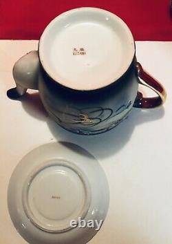 Antique Dragonware Japan Porcelain Luster Tea Set Gold Dragon Knobs Kutani 20 Pc