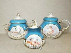 Antique European, French porcelain Sevres tea-set, 19th-20th century