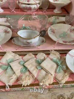 Antique French Doll's Porcelain Dinner Service in Original Presentation Lovely