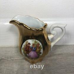 Antique JKW Karlsbad Germany Porcelain Tea Coffee Set Gilt Gold