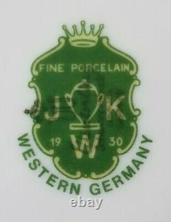 Antique JKW Karlsbad Germany Porcelain Tea Coffee Set Gilt Gold 16 Piece