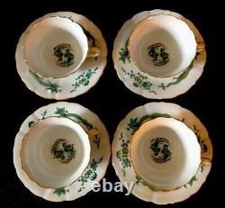 Antique Meissen porcelain Rich Green Dragon Tea Set Rare Set! 1st Quality