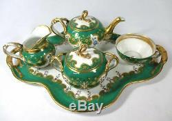 Antique Old Paris Hand-painted Porcelain 5 Piece Teaset