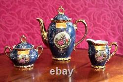 Antique Rare French Limoges Porcelain Tea Set