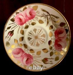 Antique Spode Copelands Cabbage Roses Tea Cup Set Pattern 3886