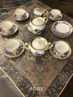 Antique Verbilki Gardner Tea Set 1766-1891 RUSSIAN PORCELAIN Set of 5