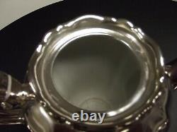 Antique WMF Tea Set Silver Over Porcelain, Tea Pot, Sugar and Creamer