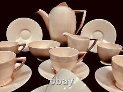 Antique Wedgwood 1920's Rose Blush Tea / Coffee Set / Art Deco Pottery / Pink