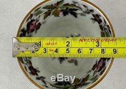 Antique Wedgwood Pearl Ware Tea SetWild GeraniumEnglish Porcelainc1868#3167
