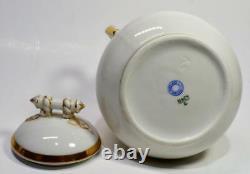 Antq HAVILAND Porcelain GOLD ROPE Design Set Coffee Tea Pot Creamer Sugar Bowl