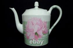 Authentic Hermes Pivoines'Tea pot','Sugar pot' &'Milk pitcher' Set