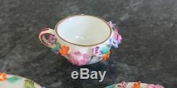 BOXED miniature porcelain COALPORT coalbrookdale ENCRUSTED TEA for 1 SET