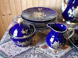 Bareuther Waldsassen Bavaria Germany Echt Cobalt Tea Set 18 Pieces Wonderful