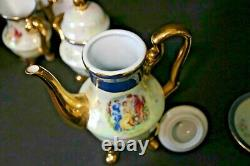 Beautiful 17pc New Century Fine Porcelain Iridescent Tea Set for 6 Victorian Sty