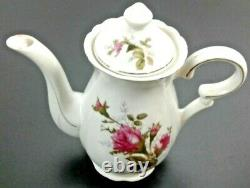 Beautiful Pink Rose China Breakfast Tea Set Japan 1950's