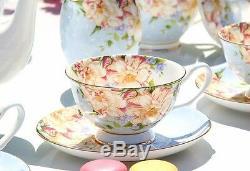 Bone China Ceramic Coffee Tea High Quality Porcelain Set