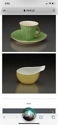 CMIELOW INA Aqua Blue Coffee Tea 15-Piece Service Set Mid Century Modern MCM