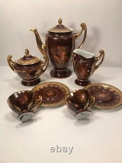 Carlsbad Friedrich Simon Porcelain Demitasse Porcelain Tea Set Circa 1900-1918