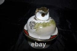 Chinese Eggshell Porcelain 37 Piece Tea Pot Set Hand Painted Signed