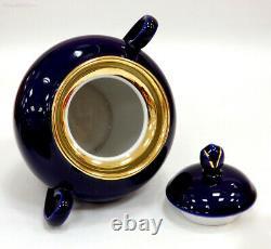 Cobalt Blue SPRING NIGHT 14-Pc Imperial Porcelain Tea Set, 6 Persons, Lomonosov