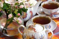 Dulevo Porcelain Coffee or tea set Firebird design 6 persons 15 pcs
