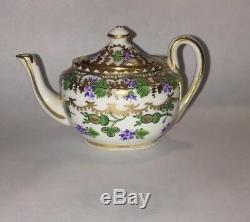 Early Hand Painted Porcelain Miniature Hammersley Tea Set Pattern #4809