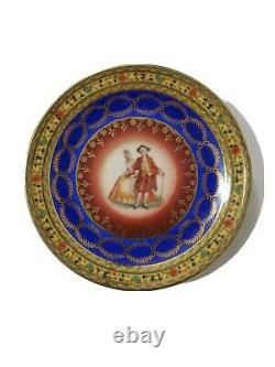 Eschenbach Roswitha Cobalt Blue Porcelain with 22K Gold Demitasse Tea/coffee Set