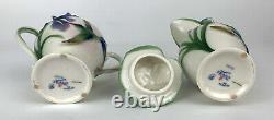 FRANZ LONG TAIL HUMMINGBIRD Porcelain Tea Set Teapot, Sugar withLid & Creamer EUC