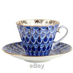 Forget-Me-Not 20 pc Tea Set Imperial Porcelain Lomonosov LFZ Fine Russian China