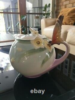 Franz Porcelain Papillon Butterfly Tea Set And Serving Plate