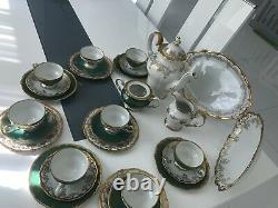 GERMAN WEIMAR KATHARINA PORCELAIN TEA SET For 8, Gorgeous