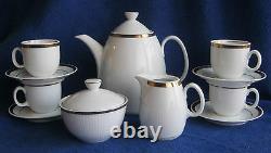 German Coffee Tea Pot Demitasse Set CP Made in German Democratic Republic Gold