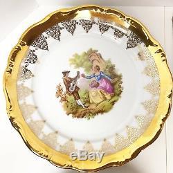 Gloria Germany Gold Set Teapot Tea Cups Saucers Porcelain Bavaria Vtg Sugar Bowl
